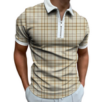 Pologize™ Casual Checkered Polo Shirt