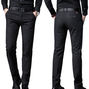 Pologize™ Formal Checkered Business Trousers