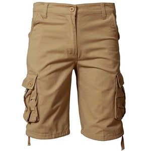 Pologize™ Solid Multi-Pocket Cargo Shorts