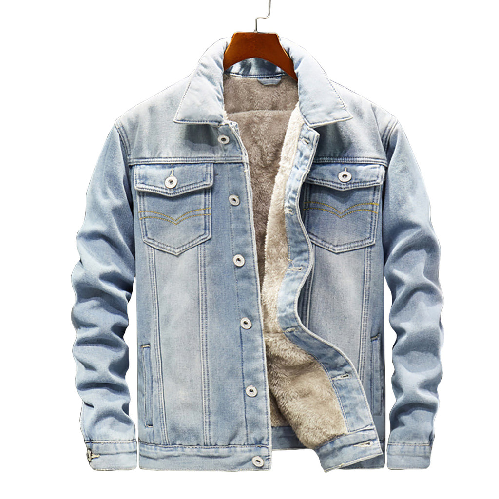 Pologize™ Warm Button-Up Denim Jacket