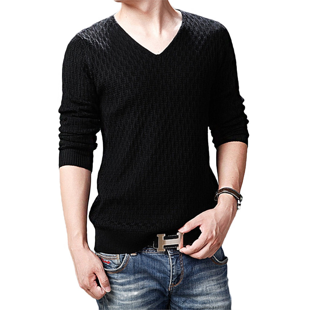 Pologize™ Diamond V-Neck Pullover