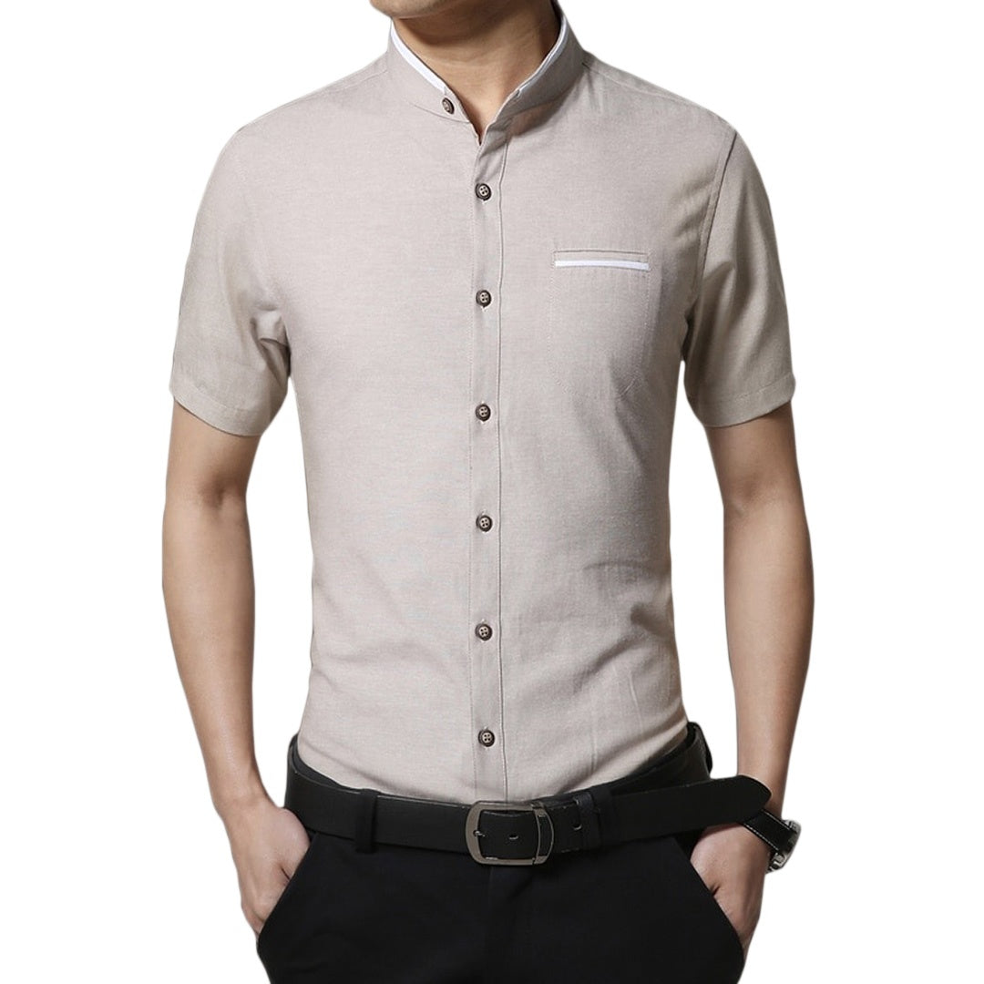 Pologize™ Mandarin Collar Formal Shirt