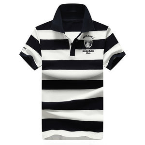 Pologize™ Striped Midnight Polo Shirt