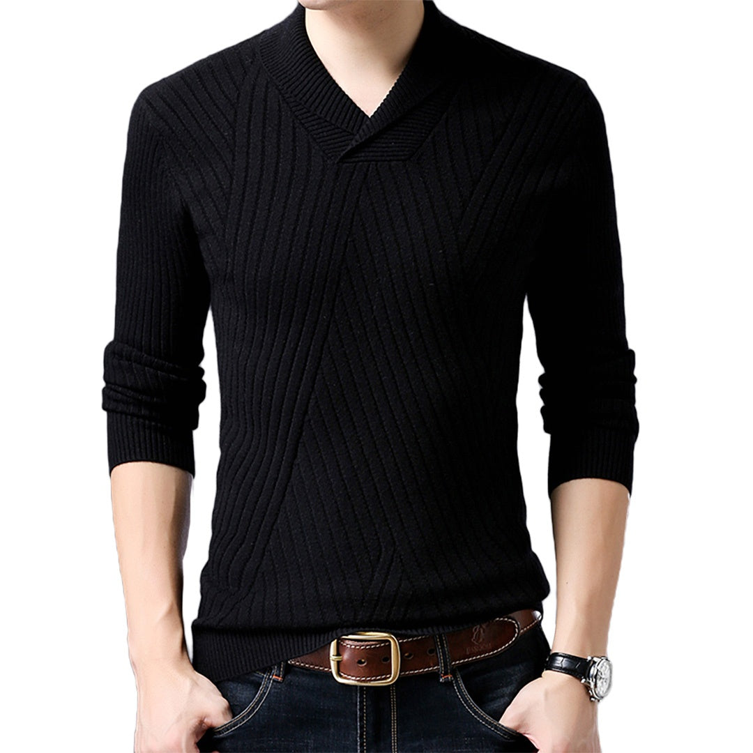 Pologize™ V-Neck Slim Sweatshirt