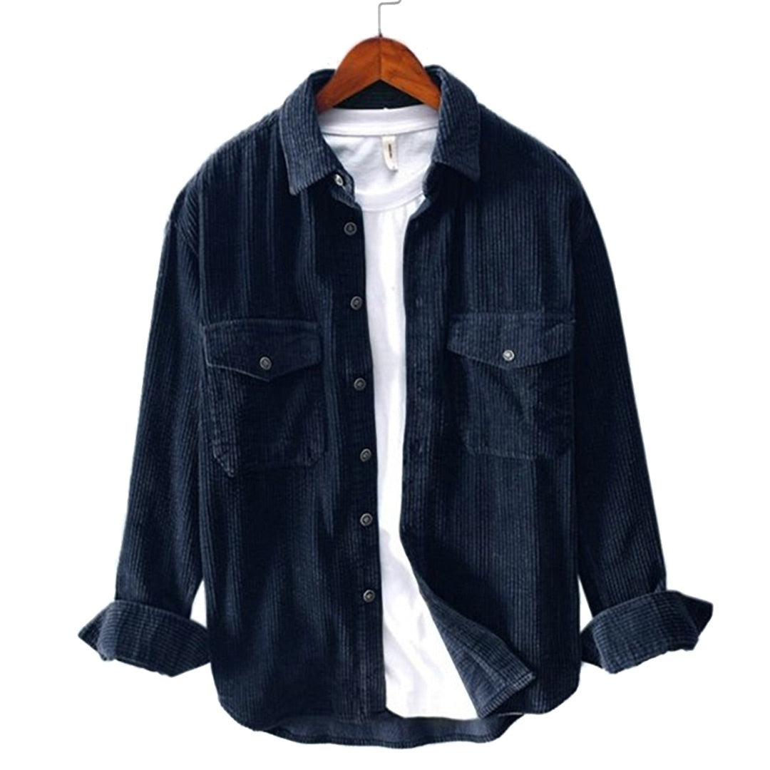 Pologize™ Loose Corduroy Button-Down Shirt