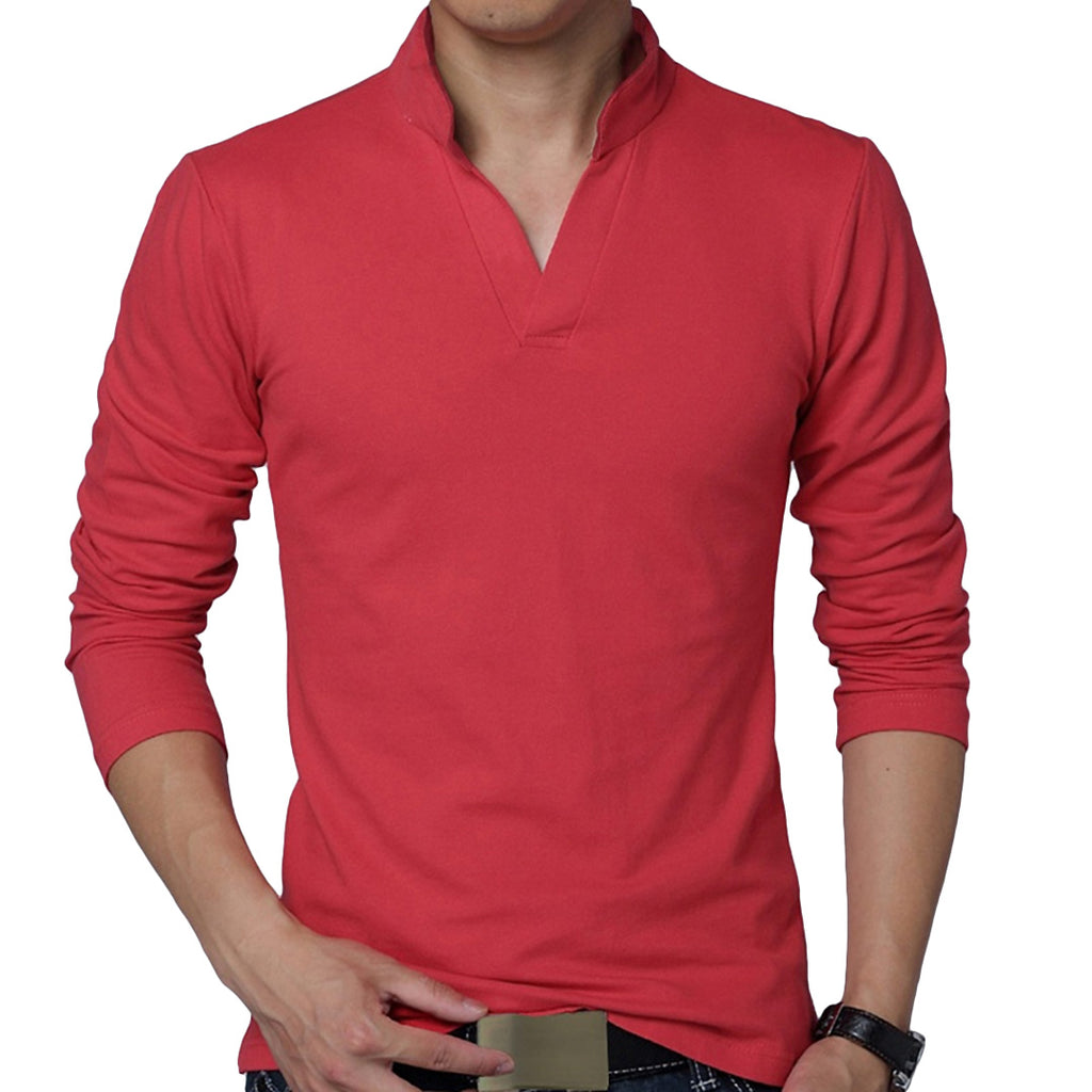 Pologize™ Long Sleeved V-Neck Polo Shirt