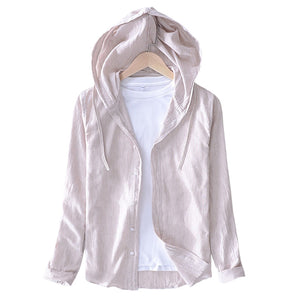 Pologize™ Hensley Linen Blend Hooded Shirt