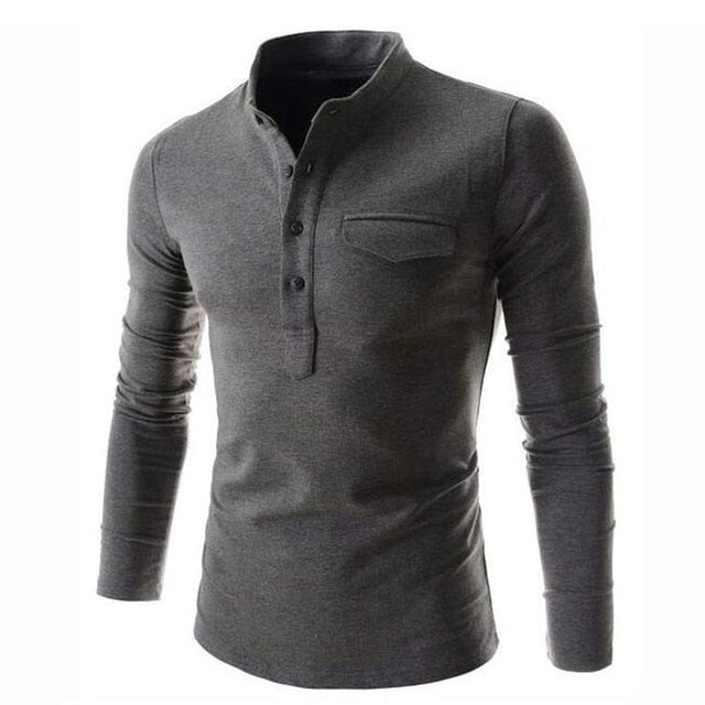Pologize™ Solid Long Sleeve Shirt