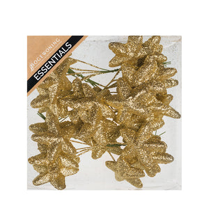 Floristry - Stars Sparkling on wire in box - White, Gold or Silver