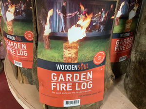 Garden fire log torch Swedish candle