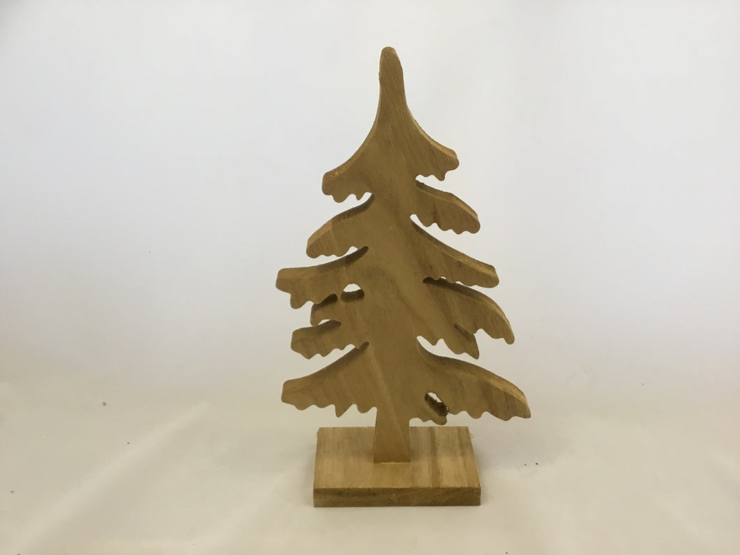 Carved wooden tree 32cm high