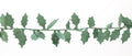 Holly Garland Eco Paper 90mm*2m - White or Green