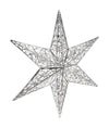 350mm 3D Filigree Star Shiny Silver or Gold