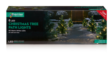 Path Lights - Trees -15 Warm White LEDs per Tree 6pc 40cm