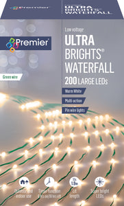 Lights - UltraBright Tree Net with Green Wire 2m Length 200 LED