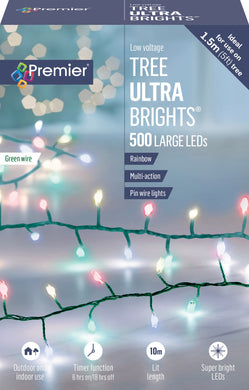 Lights - UltraBright Treebrights with Timer and Green Wire - Multiple Colour and LED Options Available