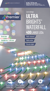 Lights - UltraBright Waterfall on Green wire 400 led's