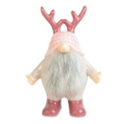 Christmas Character - 26cm Ceramic Pink And Grey Gonk