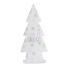"Christmas Decoration - ""Let It Snow"" Standing Tree. Small and Large"