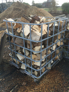 Cage of seasoned  hardwood 1.2m3 guaranteed dry and ready for burning