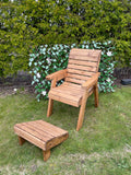 1 seat garden set with footstool