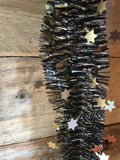 Tinsel garlands black/gold