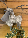 Christmas Decoration - Standing Reindeer with Fur Coat