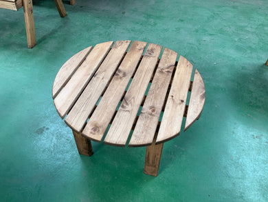 Circular drinks table