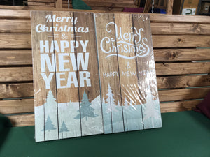 Sign - 'Merry Christmas  or Happy New Year'