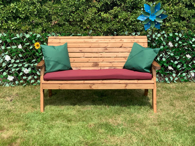 3 seater traditional wooden bench