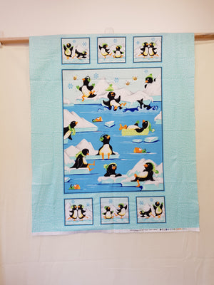 Gwynn The Penguin Cot Panel (108x88cm) - Lori's Fabrics & Quilts