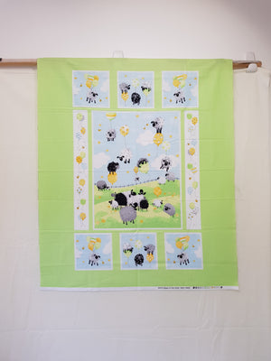 Lewe's Balloons Green Cot Panel (110x90cm) - Lori's Fabrics & Quilts