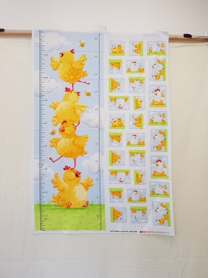 Pippa and Chicks Growth Chart (108x36cm) - Lori's Fabrics & Quilts