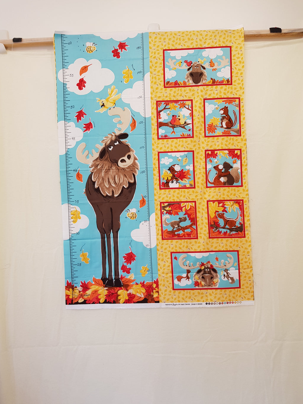 Bruce The Moose Growth Chart (108x36cm) - Lori's Fabrics & Quilts