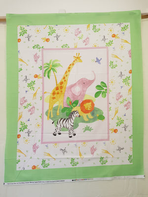 Safari Jungle Baby Cot Panel (110x90cm) - Lori's Fabrics & Quilts