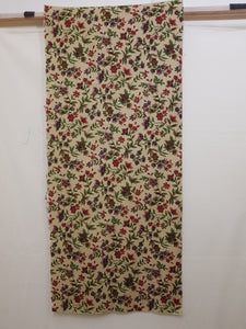 Floral on Tan Background Fabric (18x40cm) - Lori's Fabrics & Quilts