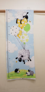 Lewe's Balloons Growth Chart Panel (45x108cm) - Lori's Fabrics & Quilts