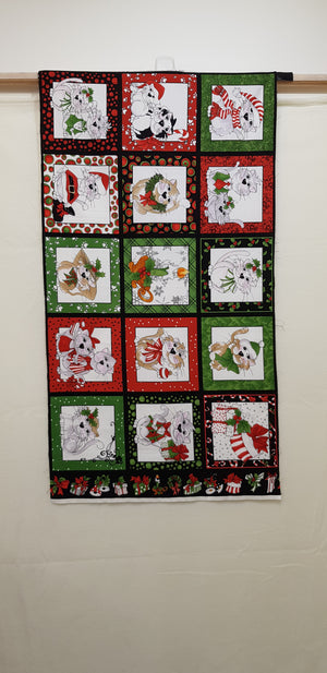 Loralie Christmas Cats Panel (110x60cm) - Lori's Fabrics & Quilts