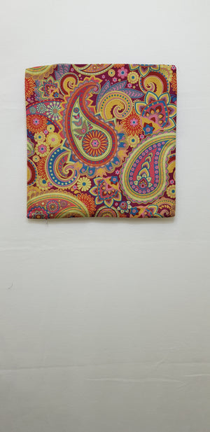 Red & Gold Paisley Pillow Case (43cm²) - Lori's Fabrics & Quilts