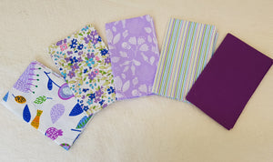 Assorted Purple Prints (5pc - 40x50cm each) - Lori's Fabrics & Quilts