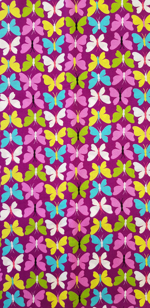 Small Butterflies on Purple (100x150cm) - Lori's Fabrics & Quilts