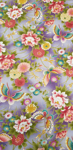 Butterflies & Florals with Gold Thread (114x102cm) - Lori's Fabrics & Quilts