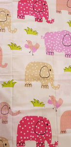 Large Elephants on White (150x145cm) - Lori's Fabrics & Quilts