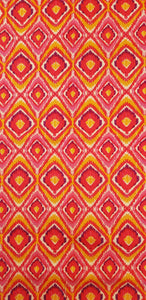 Bright Pink & Peach Diamonds (100x150cm) - Lori's Fabrics & Quilts