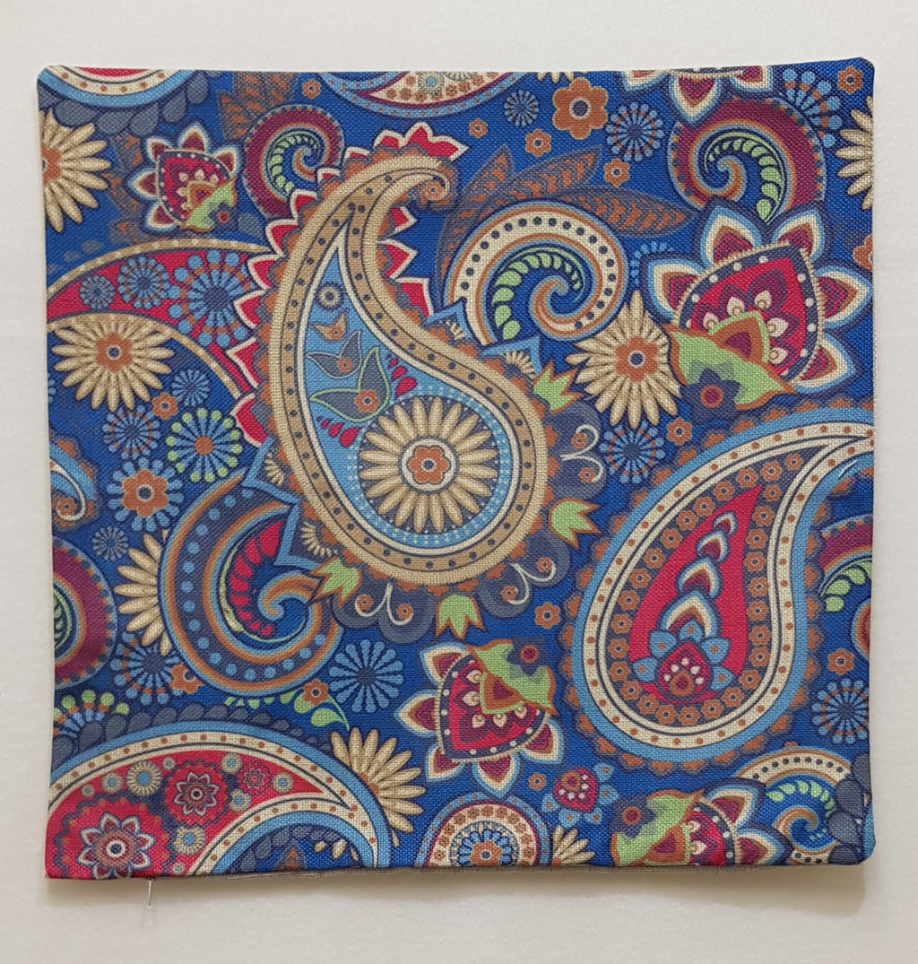 Light Blue Paisley Pillow Case (43cm²) - Lori's Fabrics & Quilts