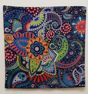 Dark Blue Bohemian Pillow Case (43cm²) - Lori's Fabrics & Quilts