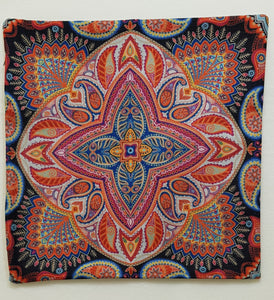 Orange & Blue Bohemian Pillow Case (43cm²) - Lori's Fabrics & Quilts