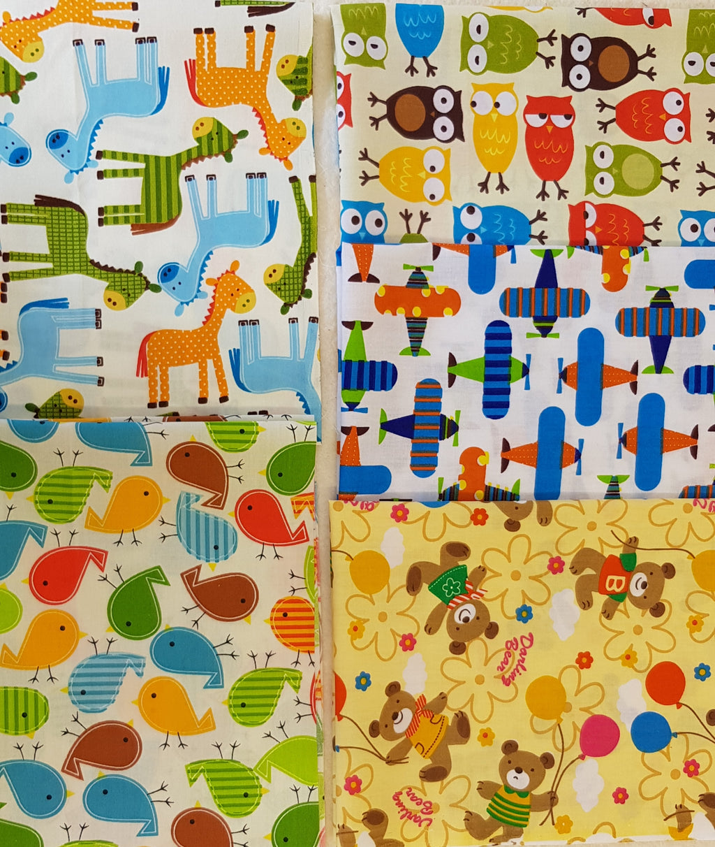 Assorted Kids Prints (5pc - 50x40cm each) - Lori's Fabrics & Quilts