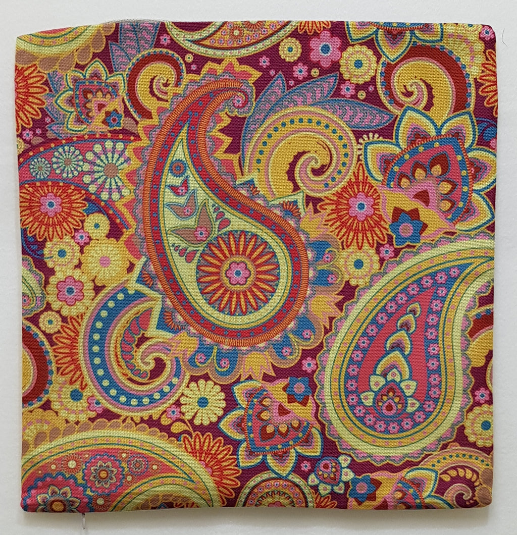 Fuschia & Teal Paisley Pillow Case (43cm²) - Lori's Fabrics & Quilts