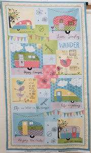 Happy Camper Caravan Panel (110x62cm) - Lori's Fabrics & Quilts